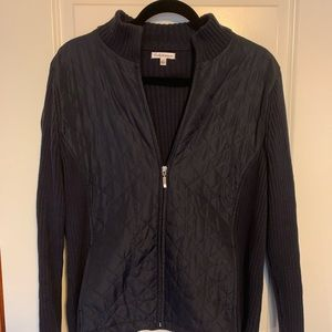 Womans Thin Quilted front sweater